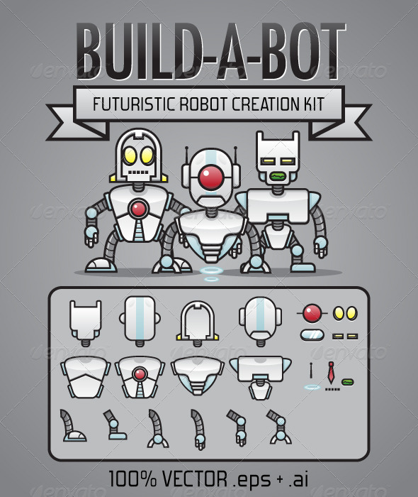 GraphicRiver Build-A-Bot Kit 3321270