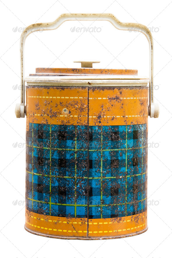 Antique ice bucket - Stock Photo - Images