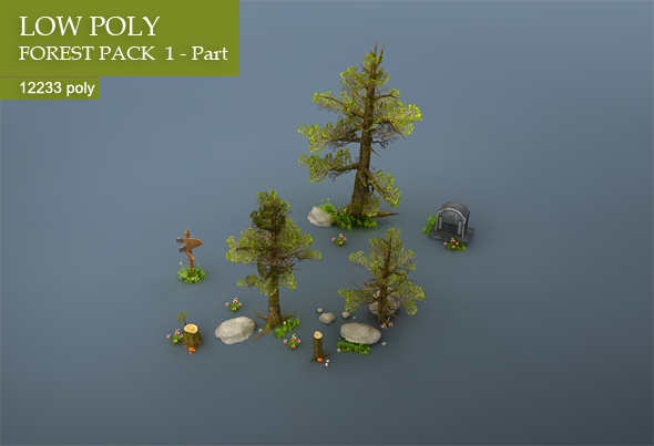 Low-poly Forest Pack - 3DOcean Item for Sale