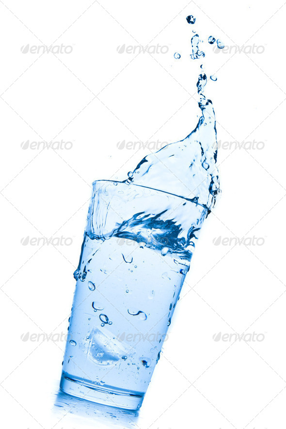 water splash in glass - Stock Photo - Images