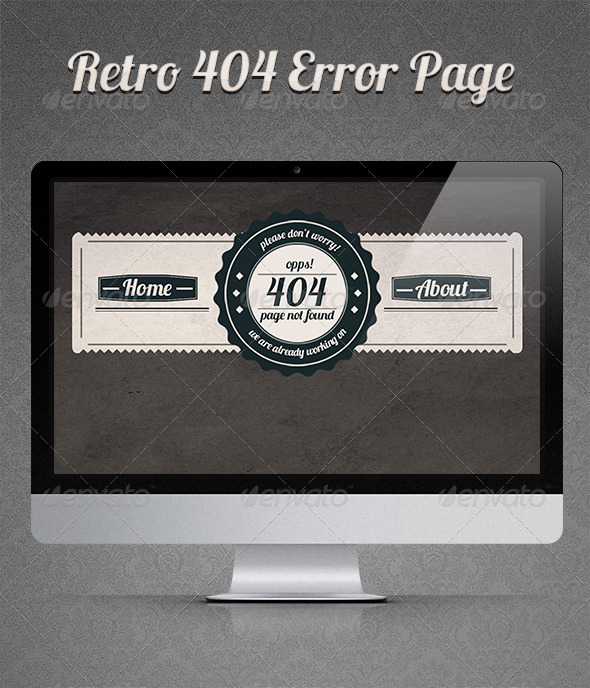 GraphicRiver Retro 404 Error Page 3304206