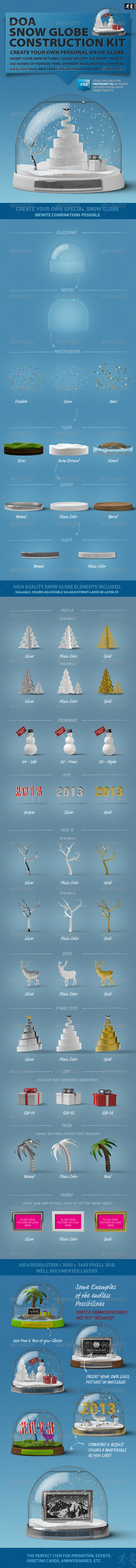 DOA Snow Globe Construction Kit - Miscellaneous Product Mock-Ups
