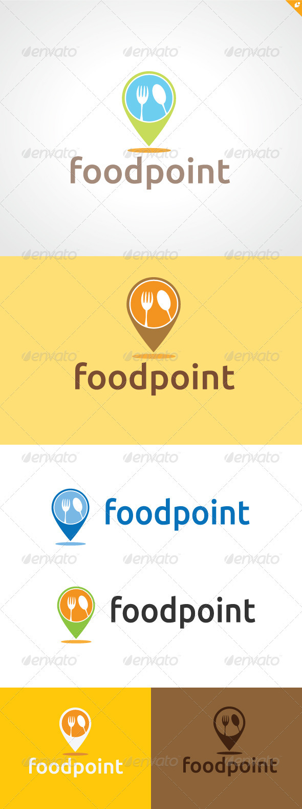 Food Point Logo - Letters Logo Templates