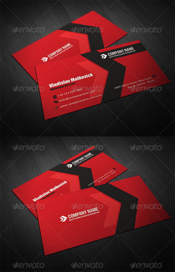 GraphicRiver Corporate Business Card 7 3322434