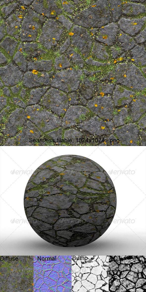 Flagstones 1 - 3DOcean Item for Sale