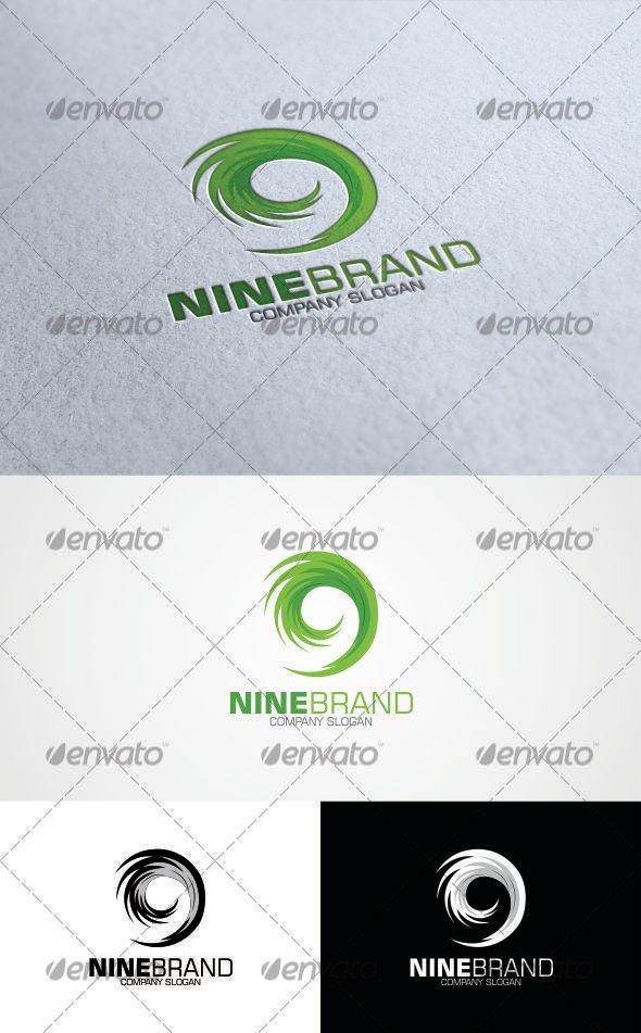 Nine Brand Logo - Numbers Logo Templates