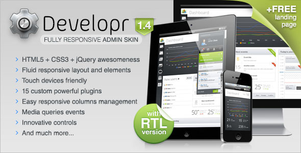 ThemeForest Developr Fully Responsive Admin Skin 2085628