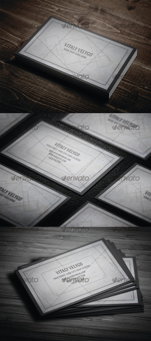 GraphicRiver Grunge Business Card 3323556