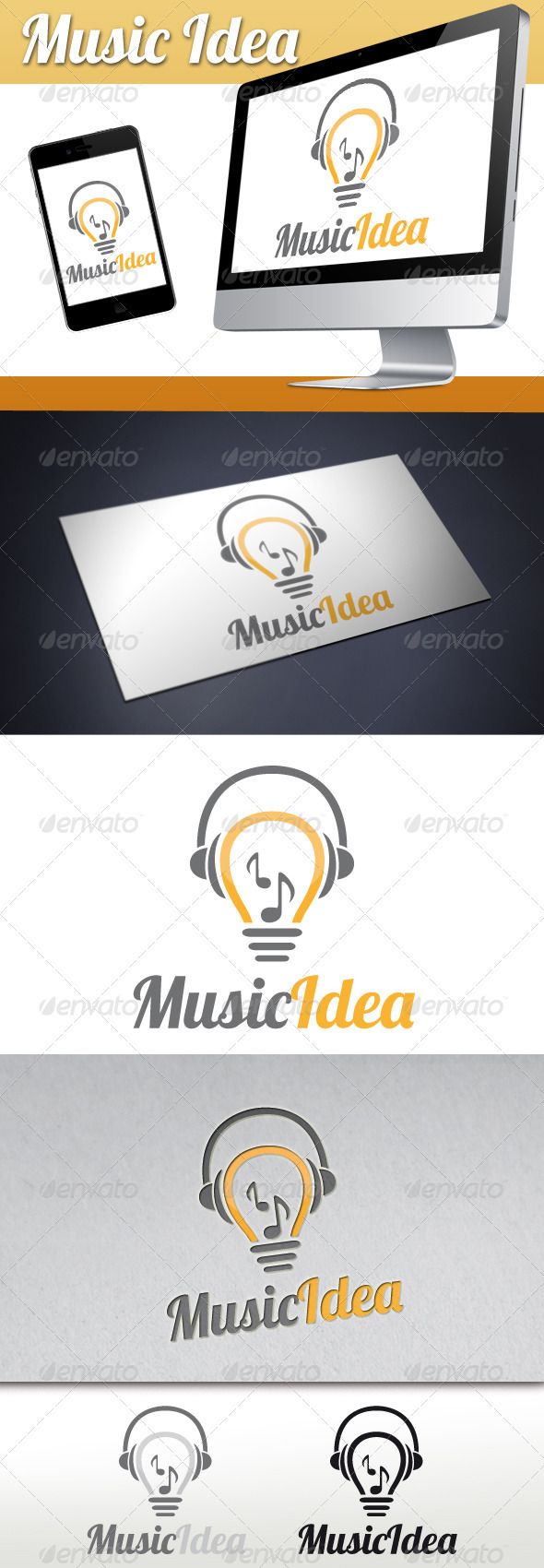 GraphicRiver Music Idea Logo 3324407