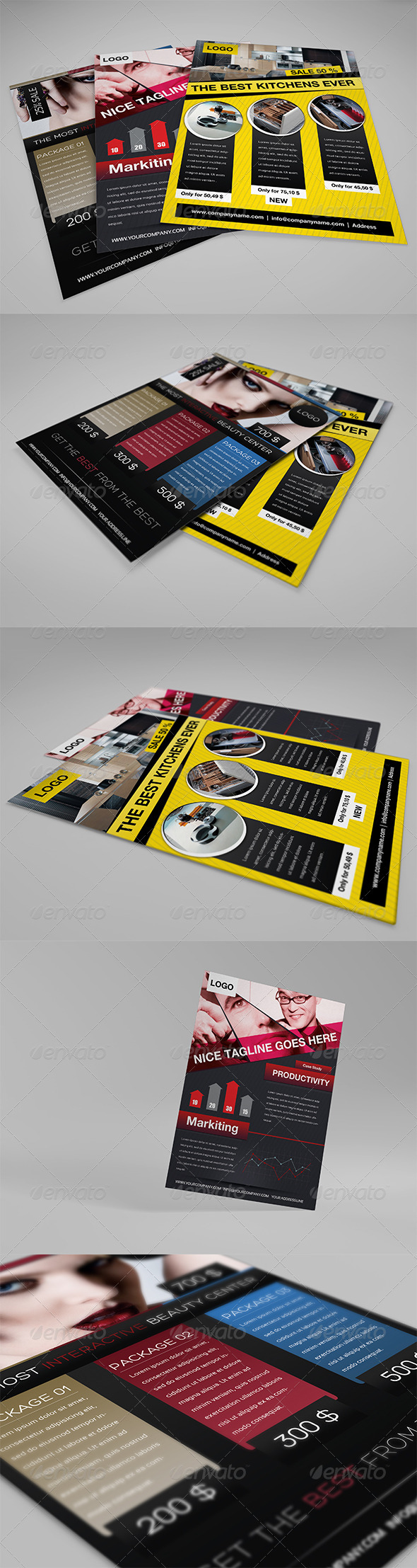 GraphicRiver Business Flyers Set 803215