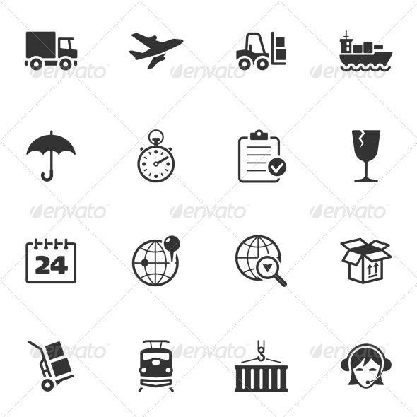 GraphicRiver Logistics Icons 3324519