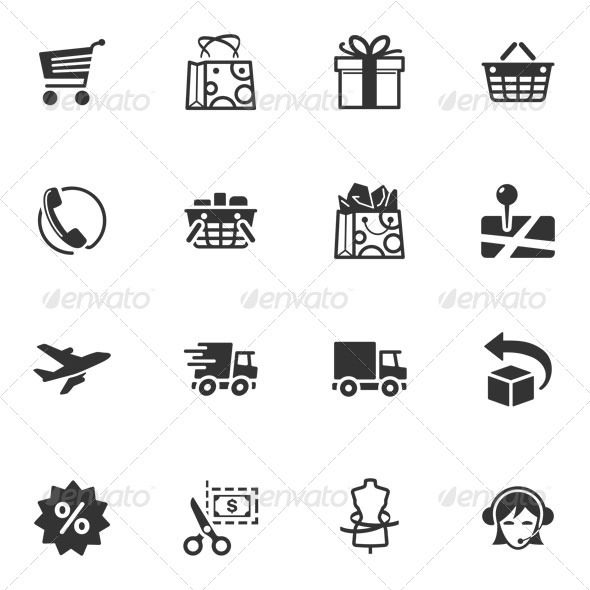 GraphicRiver Shopping and E-commerce Icons 3324526