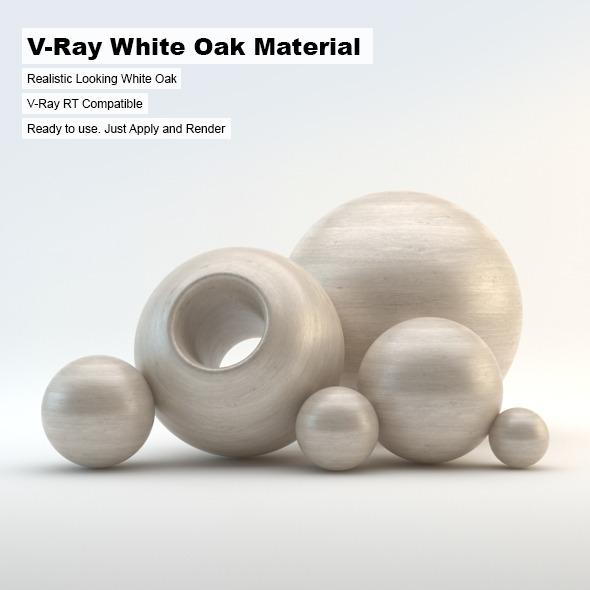 3DOcean V-Ray White Oak Material 3325473