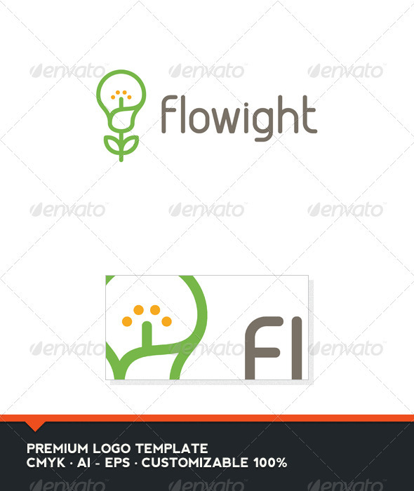 GraphicRiver Flowight Logo Template 3325763