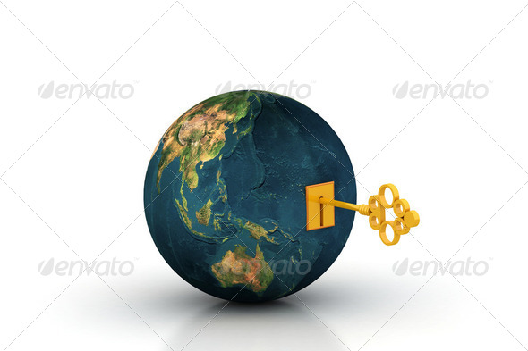 Key of the world - Stock Photo - Images