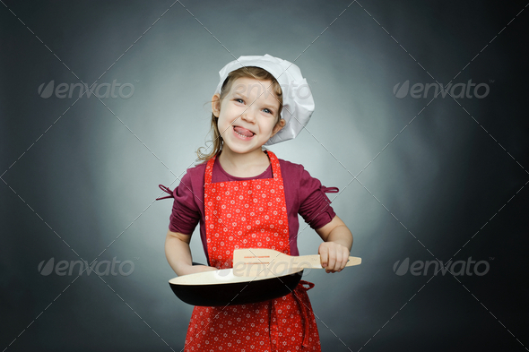 Funny cook - Stock Photo - Images