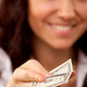 Young woman hand holding one dollar - PhotoDune Item for Sale