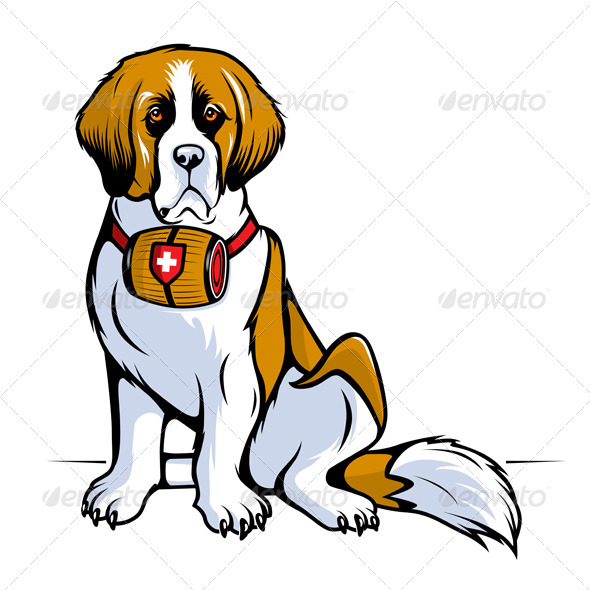 GraphicRiver Saint Bernard Dog 3326686