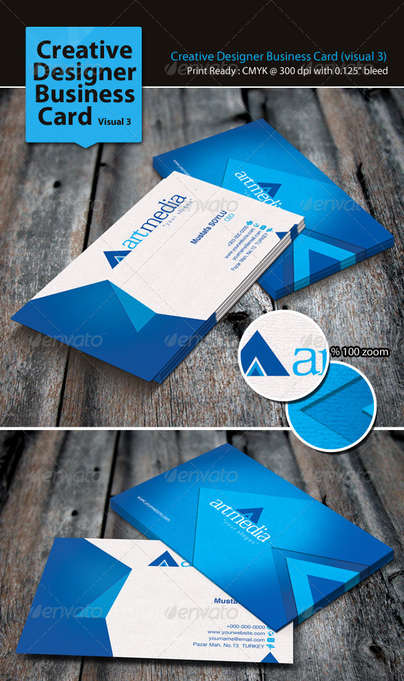 GraphicRiver Creative Designer Business Card Visual 3 3310116