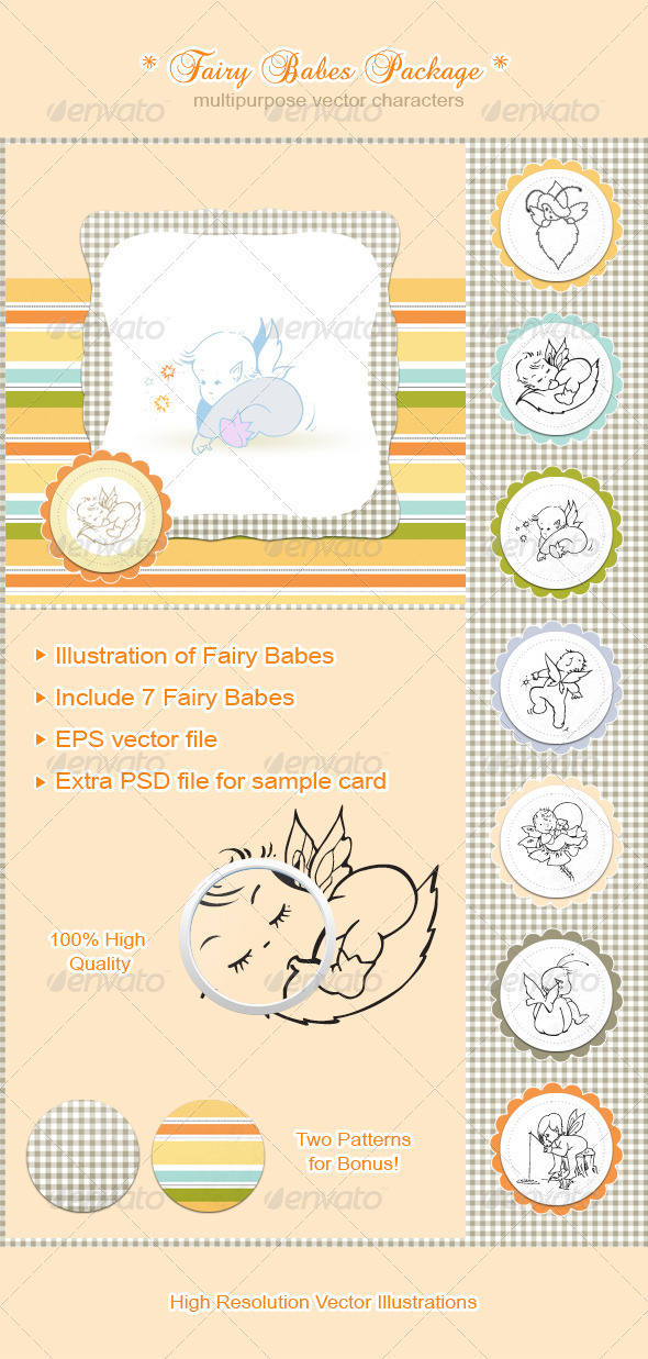GraphicRiver Fairy Babes Package 3327150
