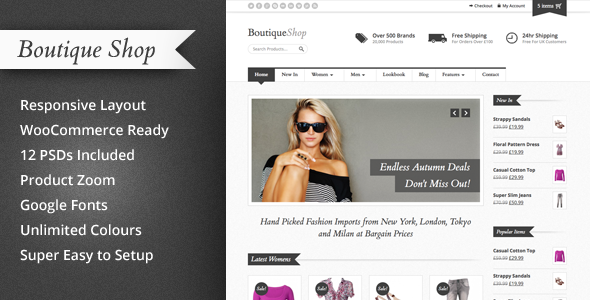 Boutique Shop - Responsive WooCommerce Theme