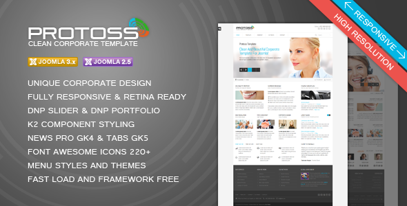 Protoss Clean Corporate Template For Joomla! - Business Corporate
