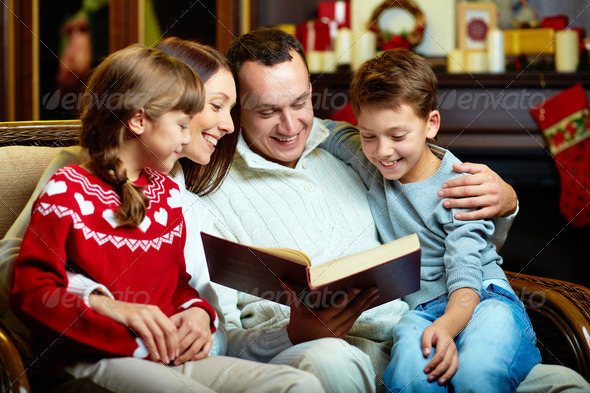 Family reading - Stock Photo - Images