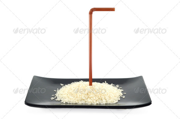 Rice Germ on dish - Stock Photo - Images