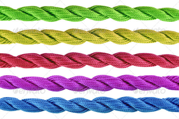 Colorful  of cotton craft thread - Stock Photo - Images