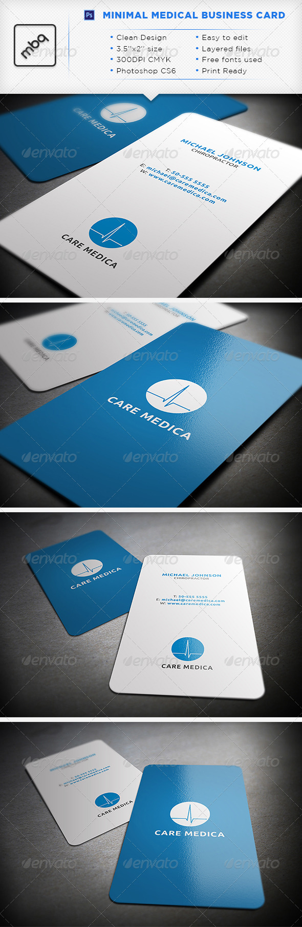 GraphicRiver Minimal Medical Business Card 3327581