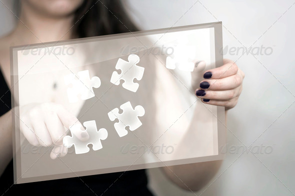 Touchscreen Puzzle - Stock Photo - Images