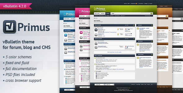 ThemeForest Primus A Theme for vBulletin 4.2 Suite 3321272