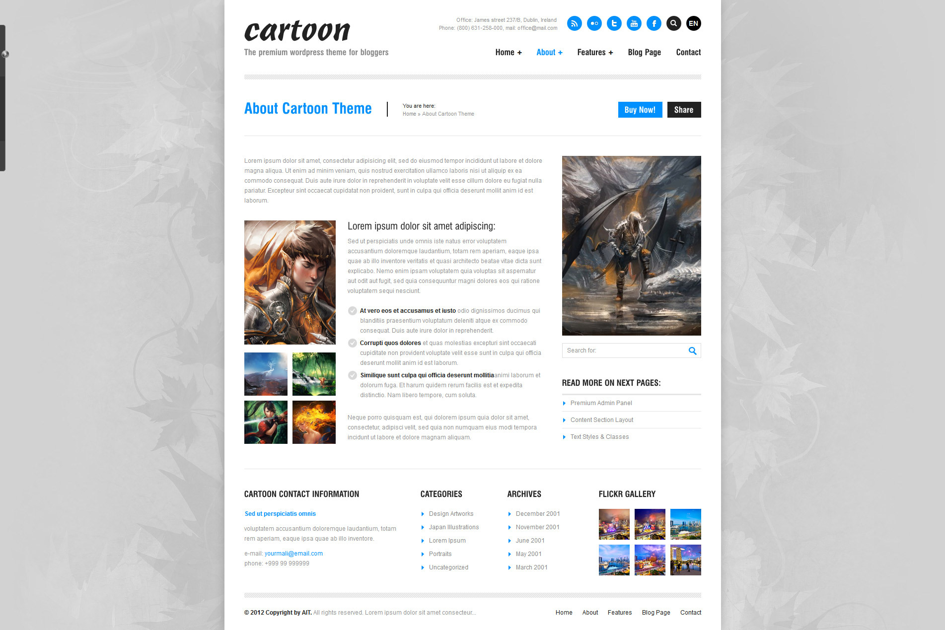 Cartoon: Responsive Portfolio/Blog/Corporate Theme