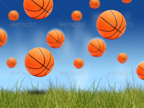 Basketball balls. - Stock Photo - Images