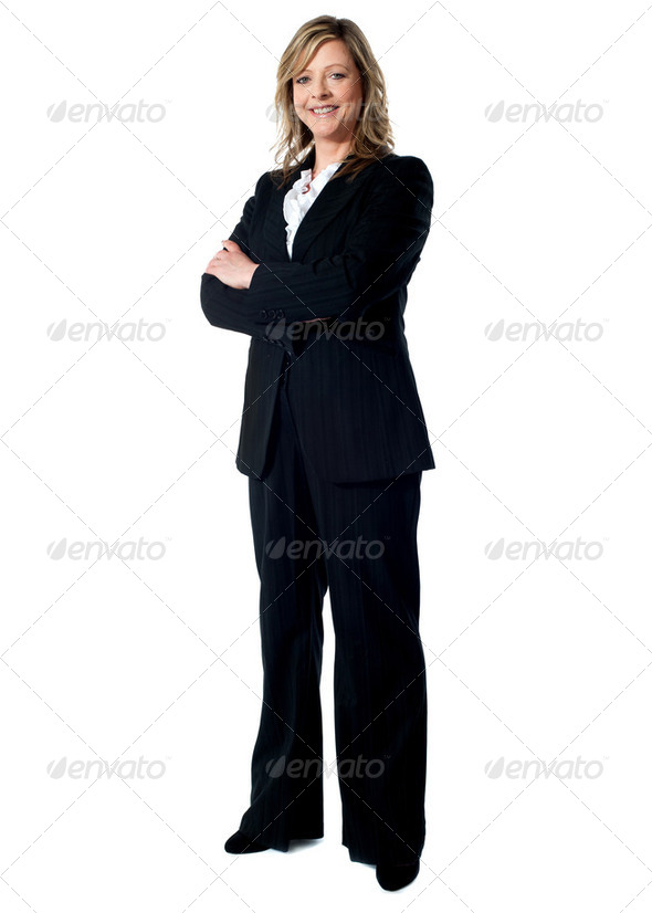 Full length portrait of an experienced business woman - Stock Photo - Images
