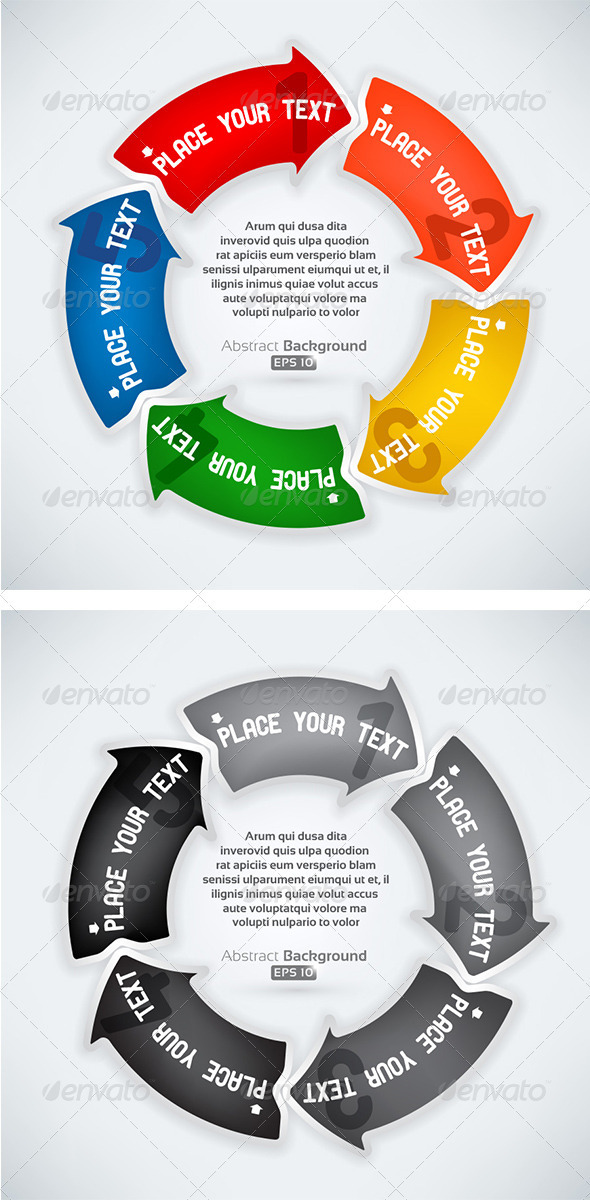 GraphicRiver Rounded Next Step Arrows 3329582
