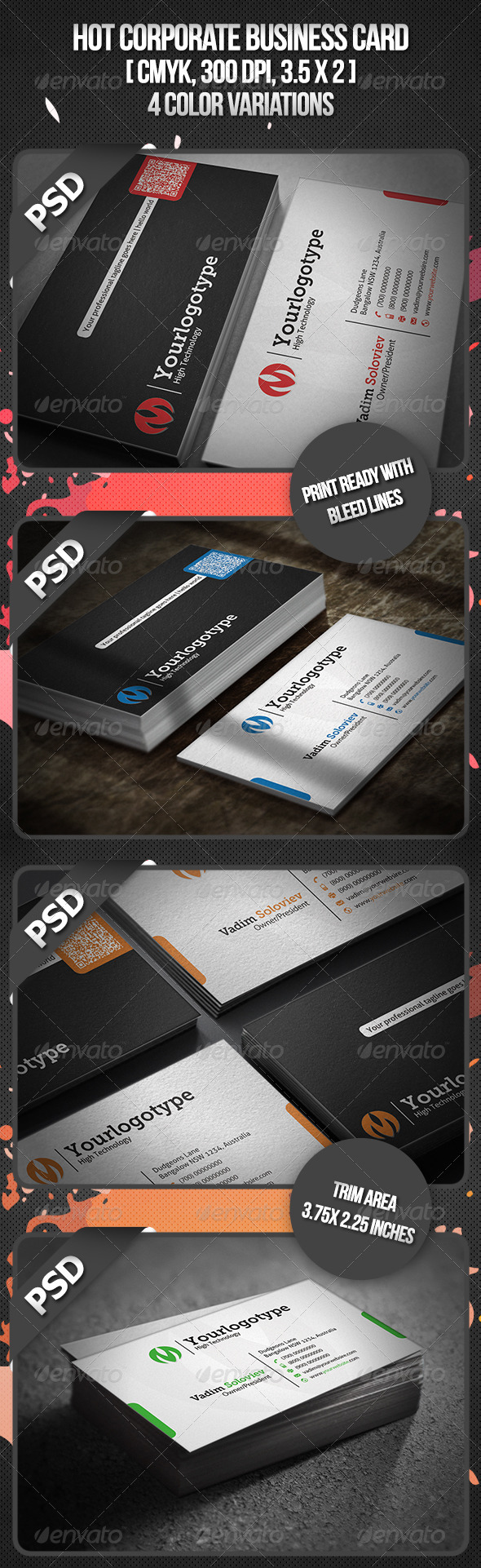 GraphicRiver Hot Corporate Business Card 3330067