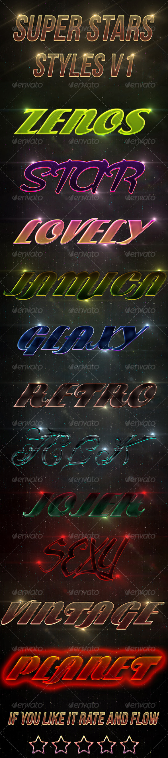 Super Stars Styles V1 - Text Effects Styles