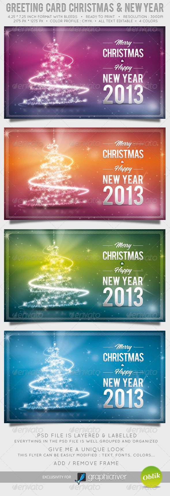  Greeting Card Christmas and New Year 