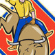 Rodeo Cowboy Bull Riding Cartoon  - GraphicRiver Item for Sale