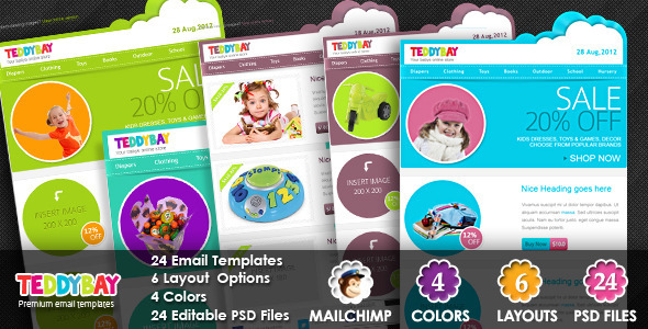 TeddyBay - Premium Email Template - Email Templates Marketing
