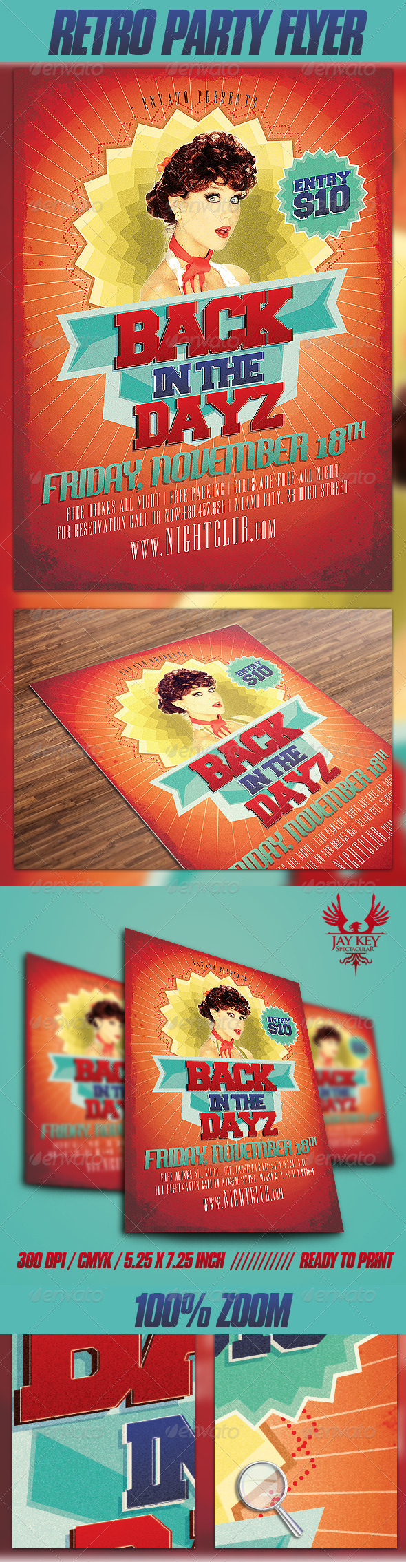 GraphicRiver Retro Party Flyer 3331543