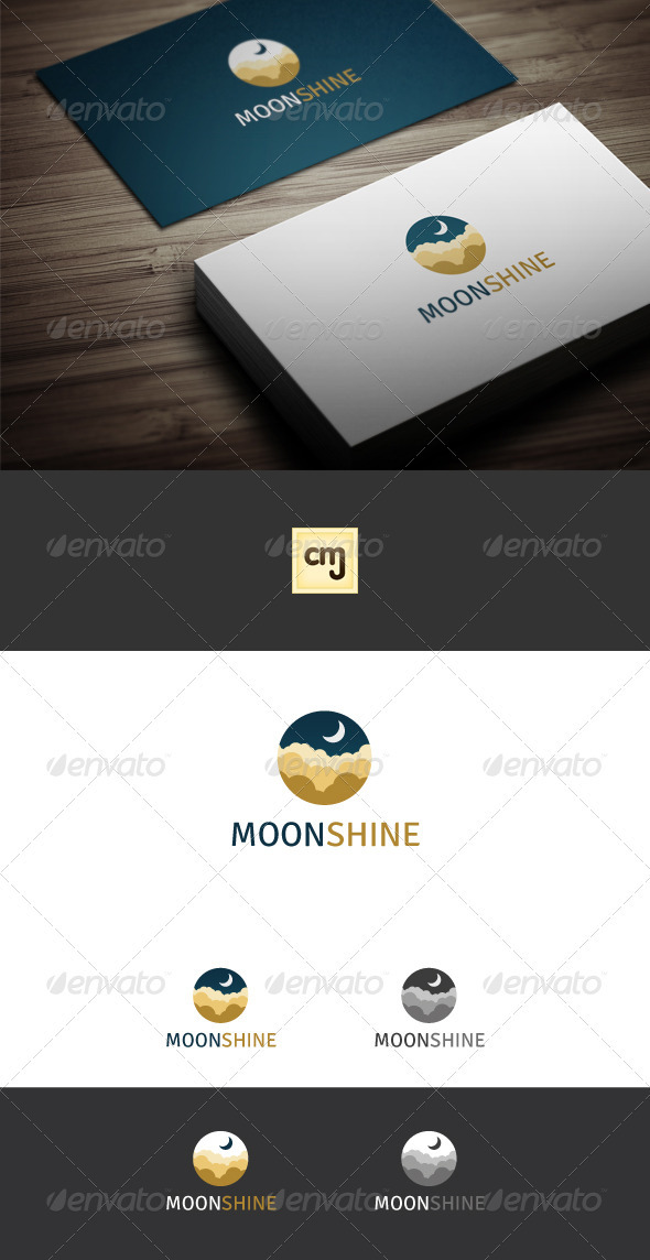 GraphicRiver Moon Shine Logo Template 3331660