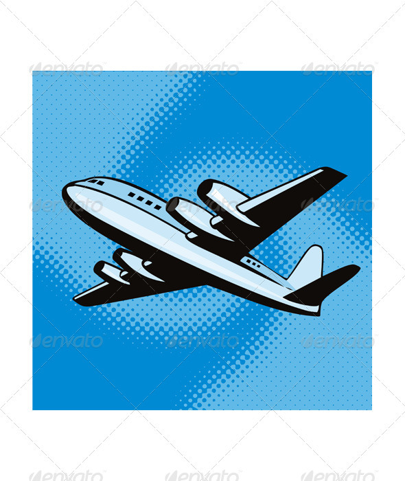 GraphicRiver Propeller Airplane Retro 3331774