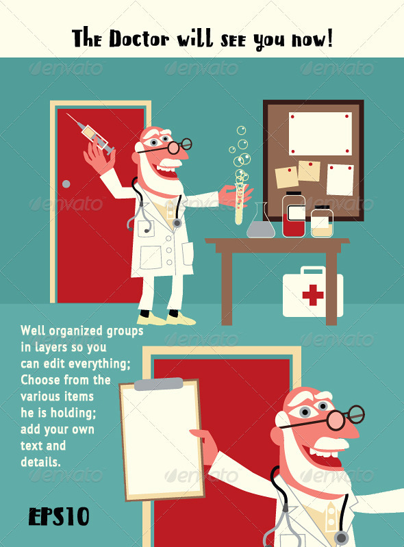 Medical Doctor in the Hospital or Surgery - Health/Medicine Conceptual