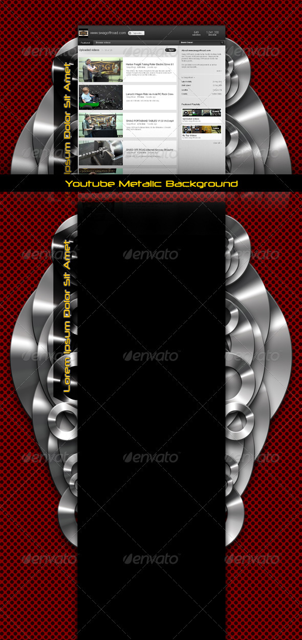 GraphicRiver Youtube Metalic Background 3333046