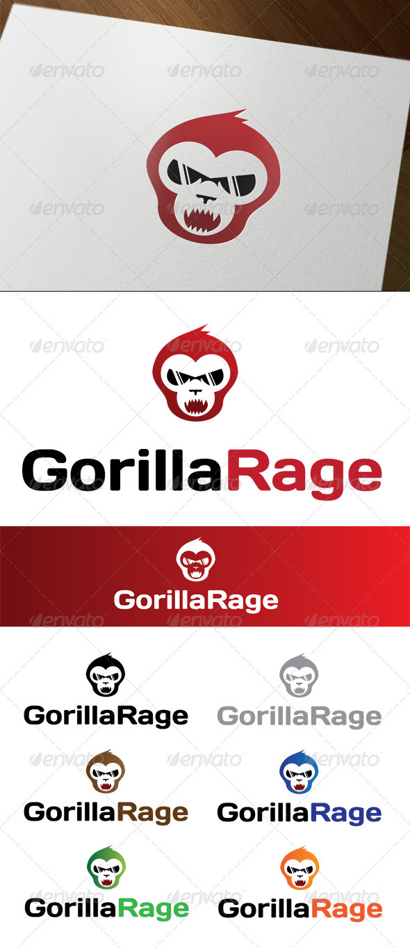 GraphicRiver Gorilla Rage 3324376