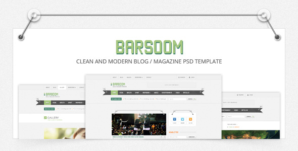 Barsoom - 12 PSD Magazine, News and Blog Template