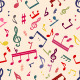 Musical Notes Seamless Pattern - GraphicRiver Item for Sale
