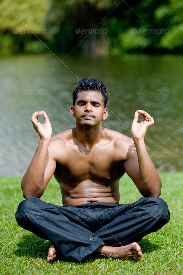 Outdoor Yoga - Stock Photo - Images